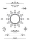 Divisores de los elementos del diseño del ornamento Imagen de archivo libre de regalías