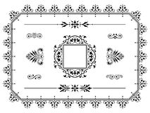 Divisores de los elementos del diseño del ornamento con la frontera Foto de archivo