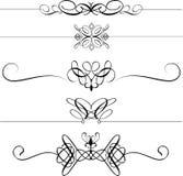 Divisores decorativos de la paginación stock de ilustración