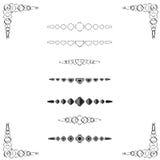 Divisores Diamond-shaped da página Fotografia de Stock Royalty Free