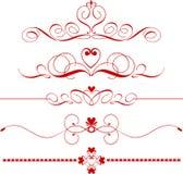 Divisores do coração ilustração royalty free