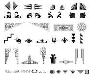 Divisores o fronteras decorativos Foto de archivo libre de regalías