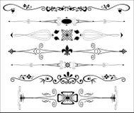 Divisores ornamentales del texto Foto de archivo