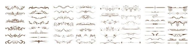 Divisores ornamentales fijados Fotografía de archivo