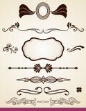 Divisores y decoraciones de la página Fotos de archivo libres de regalías