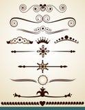 Divisores y decoraciones del texto Imagen de archivo libre de regalías