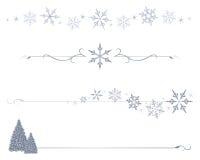 Divisori del fiocco di neve Immagine Stock
