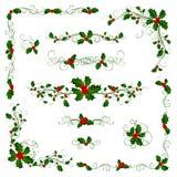 Divisori e decorazioni della pagina di Natale Fotografie Stock