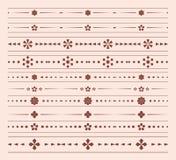 Divisori geometrici - insieme di vettore degli ornamenti Immagine Stock Libera da Diritti