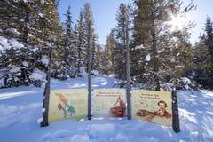 Divisoria continental en la frontera de Banff y de los parques nacionales de Kootenay, paso bermellón, Alberta, Columbia Británic imagen de archivo libre de regalías