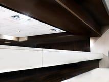 Divizão em zonas do espaço em um café Fotografia de Stock