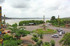 Divja Roundabout  in Goa Stock Photo