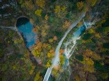 Divje Jezero of Wild Meer, geologisch fenomeen in Slovenië royalty-vrije stock afbeelding