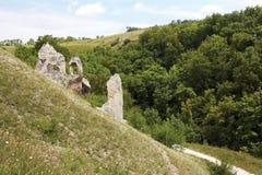 Divnogore - museum reserve of the Cretaceous mountains Stock Photo