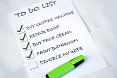 Divorcíese a mi esposa Imagen de archivo