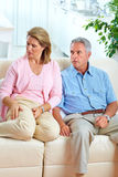 Divorce. Angry elderly couple at home. Divorce Royalty Free Stock Image