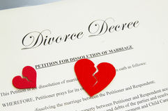 Divorce agreement royalty free stock images
