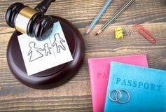 Divorce, amour et antécédents familiaux abstraits Photo libre de droits