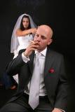Divorce après mariage Image stock