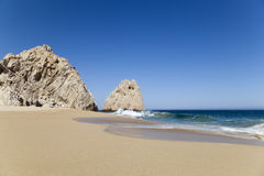 Divorce beach in Los Cabos, Mexico. Divorce beach (Playa del divorcio) in Los Cabos in the Pacific Ocean, Mexico Royalty Free Stock Photos