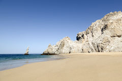 Divorce beach in Los Cabos, Mexico. Divorce beach (Playa del divorcio) in Los Cabos in the Pacific Ocean, Mexico Stock Image