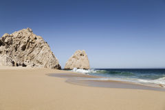Divorce beach in Los Cabos, Mexico. Divorce beach (Playa del divorcio) in Los Cabos in the Pacific Ocean, Mexico Stock Photo