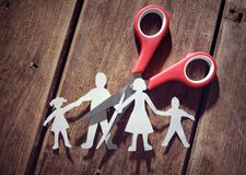 Divorce and child custody stock photo