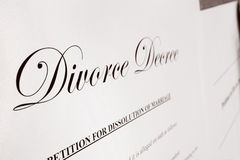 Divorce closeup Stock Images