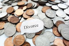 Divorce coins Stock Photography