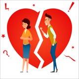 divorce Combattez et discutez Querelle de deux personnes Conflit de famille Cassez les relations Homme de ménages mariés et femme Photos libres de droits