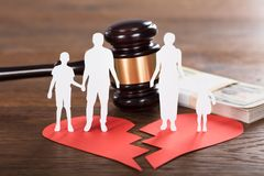 Divorce Concept On Wooden Desk Royalty Free Stock Image