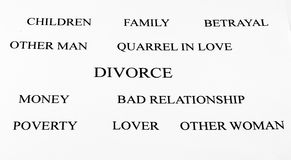 Divorce. Conceptual background of divorce and its problems Stock Photos