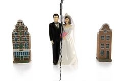 Divorce of couple Royalty Free Stock Image
