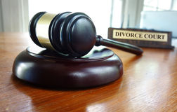 Divorce Court Stock Image