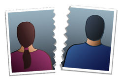 Divorce de couples Photo libre de droits