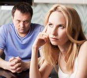 Divorce de couples Photographie stock libre de droits