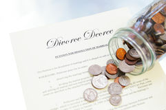 Divorce decree Stock Images