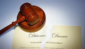 Divorce decree Stock Photo