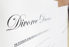 Divorce decree Royalty Free Stock Photo