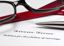 Divorce decree Royalty Free Stock Image