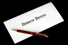 Divorce Decree document and pen Stock Photos
