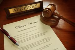 Divorce Decree Royalty Free Stock Photography