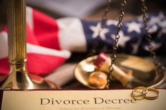 Divorce decree and gavel Royalty Free Stock Photos