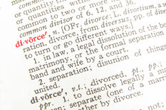 Divorce definition - legal term Royalty Free Stock Photos