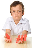 Divorce effect on kids -focus on child Royalty Free Stock Images