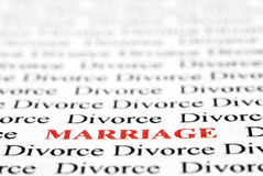 Divorce et mariage Photo libre de droits