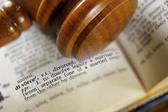 Divorce gavel Stock Images