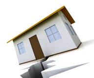 Divorce House Split House Depicts Legal Sharing Of Property After Divorcing - 3d Illustration