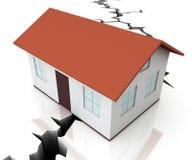Divorce House Split Icon Depicts Legal Sharing Of Property After Divorcing - 3d Illustration