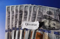 Divorce hundreds Royalty Free Stock Images